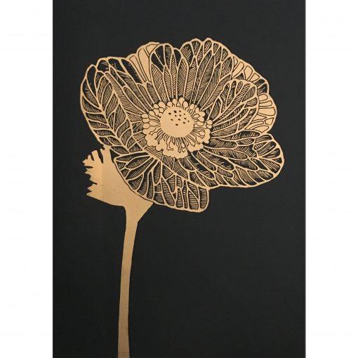 50x70 Anemone Black