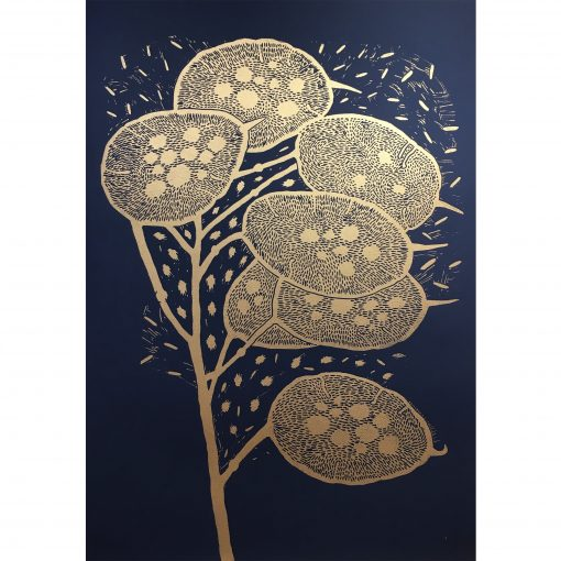 50x70 Winter branch indigo